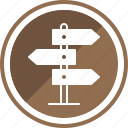 board, direction, path, sign, travel, way icon