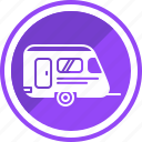 car, hand, home, travel, trolley, truck, van icon
