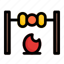 barbecue, bbq, brochette, skewer icon