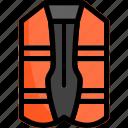 lifevest, marine, ocean, vest icon