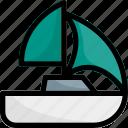 boat, sail, sea, ship, travel