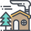 architecture, building, camping, home, house, travel icon