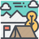 camp, camping, outdoor, tourism, travel, vacation icon