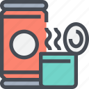beverage, canned, coffee, drink, food icon