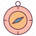 adventure, compass, direction icon