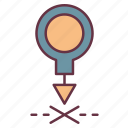 adventure, map, position icon