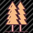 adventure, jungle, trees icon
