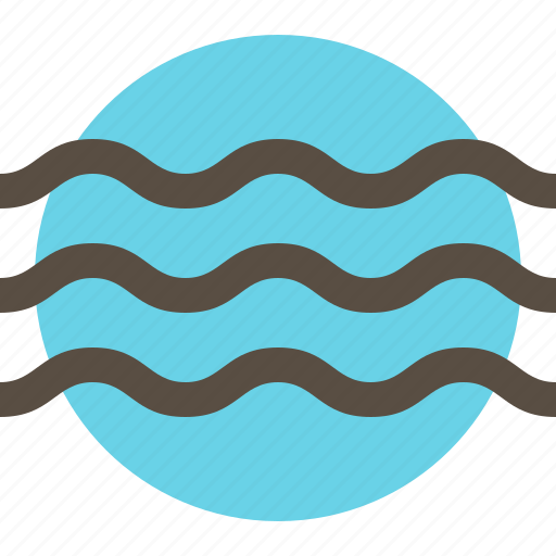 lake, river, water, wave icon