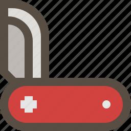 folding, knife, swiss, weapon icon