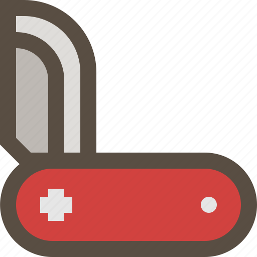 Folding, knife, swiss, weapon icon - Download on Iconfinder