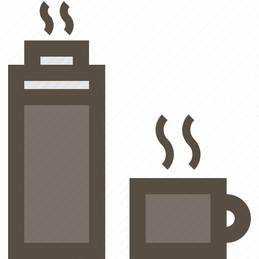 coffee, cup, hot, thermos icon