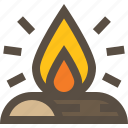 bonfire, campfire, fire, flame icon
