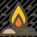 fire, campfire, flame, bonfire