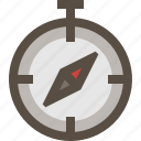 adventure, compass, direction, navigation icon