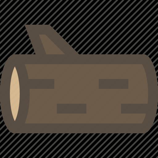 cut, log, wood, woodlog icon