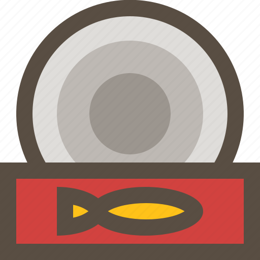 canned, food, sardine, supply icon