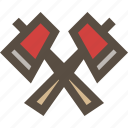 ax, axe, hatchet, wood icon