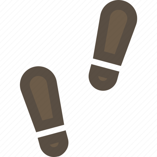footprint, human, shoe, track icon