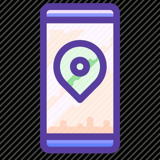 adventure, location, map, smartphone icon