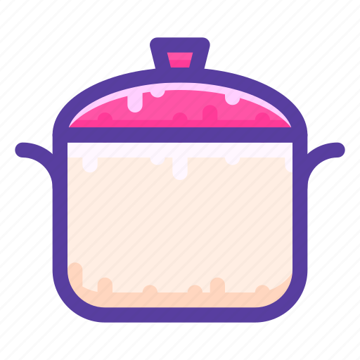 adventure, camping, cooking, pot icon