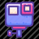 adventure, camera, gopro, video icon