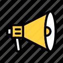 megaphone, ads, announcement, advertisement, speaker