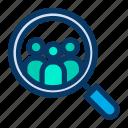 customer, find, profile, search, support, user icon