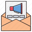 ads, email, marketing, megaphone, message