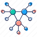 connection, hierarchy, linkage, nodes network, structure icon