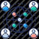 affiliate marketing, global communication, global discussion, global marketing, global network icon