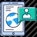 collaboration, global communication, global connection, global network, world wide communication icon