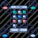 mobile app menu, mobile interface, mobile navigation, mobile software, mobile ux design icon