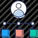 data exchange, data interchange, data sharing, data transfer, information sharing icon