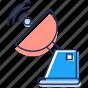 communication technology, parabolic antenna, parabolic dish, satellite antenna, satellite dish icon