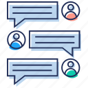 chat, communication, conversation, messaging, texting icon