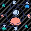 affiliate marketing, referral program, social community, social media, social network icon