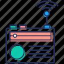 broadcasting media, radio, radio transmission, radionics, wireless transmission icon
