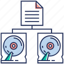 data exchange, data interchange, data sharing, data transfer, synchronization icon