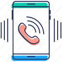 contact, incoming call, mobile call, mobile ringing, phone call icon