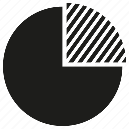 market, marketing share, pie chart icon