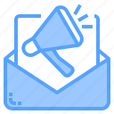 background, business, communication, design, digital, email, marketing icon