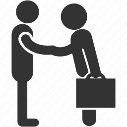 business meeting, client, deal, handshake, meeting, official meeting icon