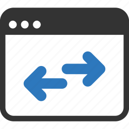 browser, code, html, internet, link, network, optimization, website icon