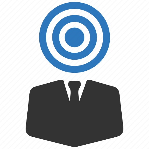 audience, target, user icon