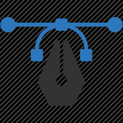 curve, design, illustrator, vector icon