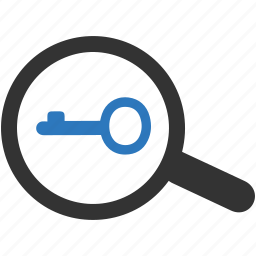 key, keyword, protection, research, search, security, seo icon