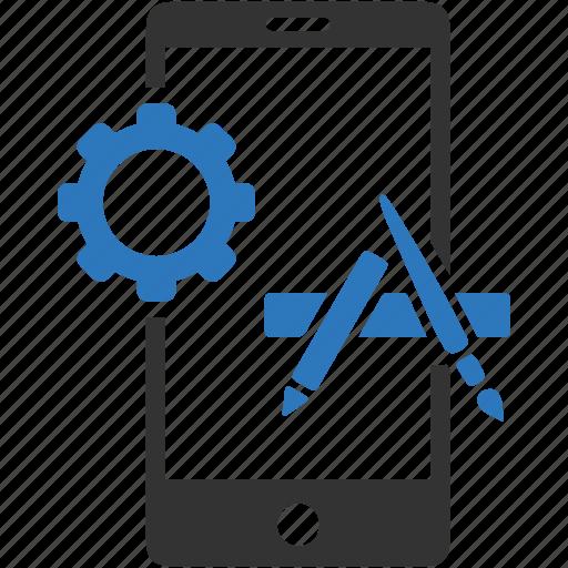 configuration, development, gear, mobile, preference, setting, smartphone icon