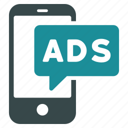 advertisement, advertising, communication, message, mobile ads, phone, telephone icon