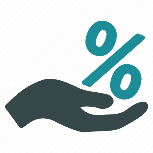 discount, gift, hand, percent, price off, promotion, sale icon