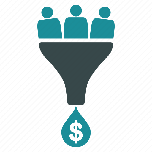 filter, lead conversion, marketing, optimization, reduction, sale rate, sales funnel icon